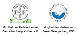Mitglied des Fachverbandes Deutscher Heilpraktiker e.V. Mitglied des Verbandes Freier Osteopathen, VFO